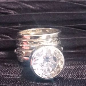 🌟SILPADA Sterling & Cubic Zirconia Set of 5 Rings
